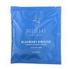 Rishi Tea, Mezcla botánica orgánica, Arándano azul e hibisco, Sin cafeína, 15saquitos, 48g (1,69oz)