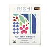 Rishi Tea, Organic Botanical Blend, Blueberry Hibiscus, Caffeine-Free, 15 Sachets, 1.69 oz (48 g)