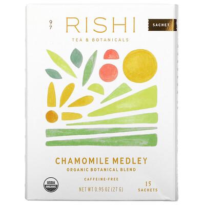 Купить Rishi Tea Organic Herbal Tea, Chamomile Medley, Caffeine-Free, 15 Sachets, 0.95 oz (27 g)