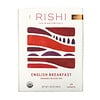 Rishi Tea, Organic Black Tea, English Breakfast, 15 Sachets, 1.69 oz (48 g)