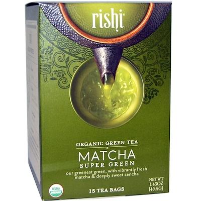Купить Органический зеленый чай, зеленый чай маття, 15 пакетиков 1, 43 унции (40, 5 г)