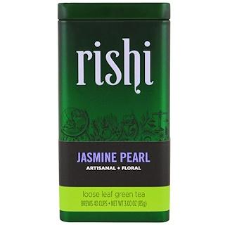 Rishi Tea, لؤلؤ الياسمين، أوراق الشاي الأخضر، 3أوقية (85 ج)