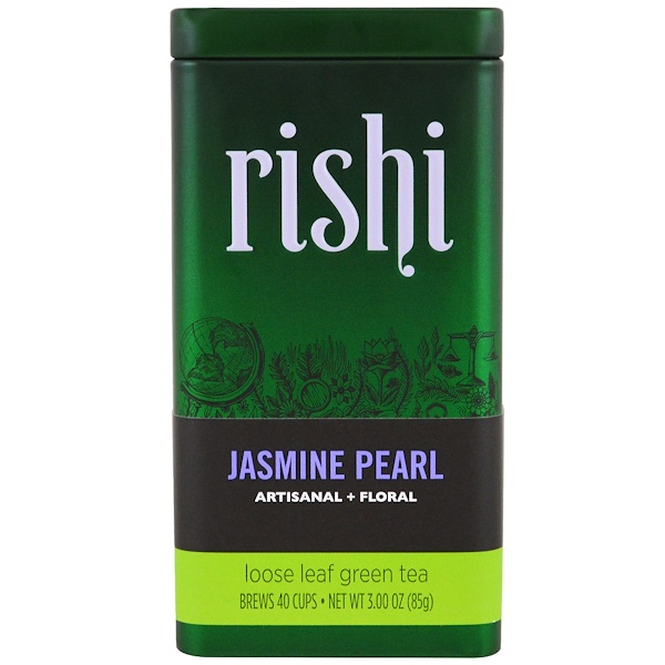 Organic Loose Leaf Green Tea, Jasmine Pearls, 3 oz (85 g)