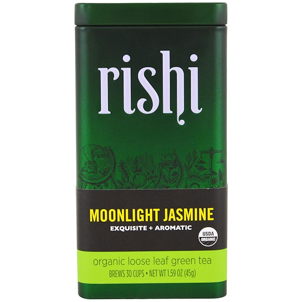 Rishi Tea, Moonlight Jasmine, Organic Loose Leaf Green Tea, 1.59 oz (45 g) (Discontinued Item)