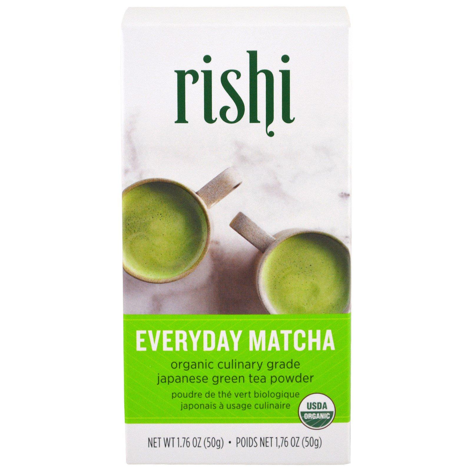 Rishi Tea, Органический порошковый чай маття для ежедневного использования, 1,76 унций (50 г)