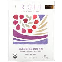 Rishi Tea, Organic Botanical Blend, Valerian Dream, Caffeine-Free, 15 Sachets, 1.05 oz (30 g)