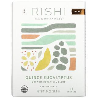 Rishi Tea, Organic Botanical Blend, Quince Eucalyptus, Caffeine-Free, 15 Sachets, 1.74 oz ( 49.5 g)