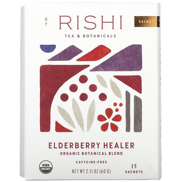 Elderberry Healer, Caffeine-Free, 15 Sachets, 2.11 oz (60 g)