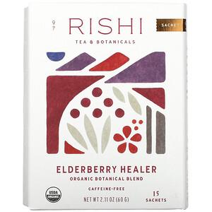 Rishi Tea, Elderberry Healer, Caffeine-Free, 15 Sachets, 2.11 oz (60 g)