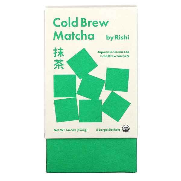 Cold Brew Matcha, Japanese Green Tea, 5 Large Sachets, 1.67 oz (47.5 g)