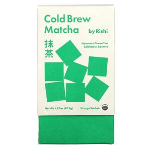 Rishi Tea, Cold Brew Matcha, Japanese Green Tea, 5 Large Sachets, 1.67 oz (47.5 g)