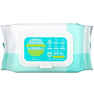 Ariul, 緩解壓力,手部消毒紙巾,99.9% 滅菌效果,10.82 液量盎司(320 毫升)