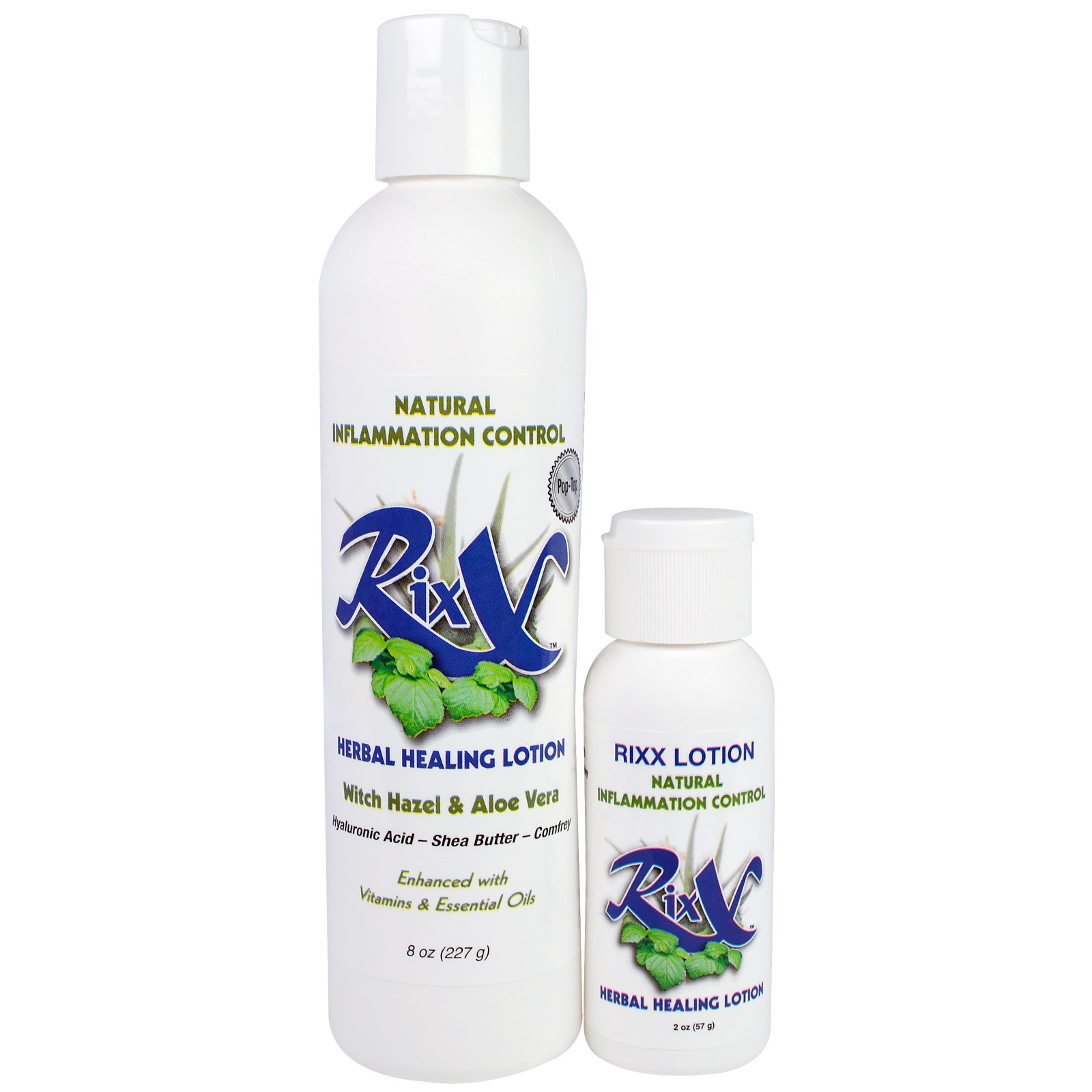 Rixx, Herbal Healing Lotion, Combo Pack, 8 oz (227 g) & 2 oz (57 g)