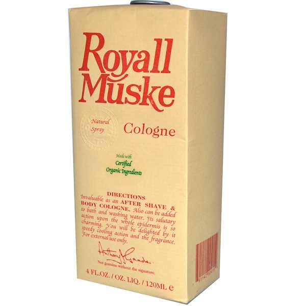 Royall Lyme Bermuda Ltd., Royall Muske, Cologne, 4 fl oz (120 ml) (Discontinued Item)