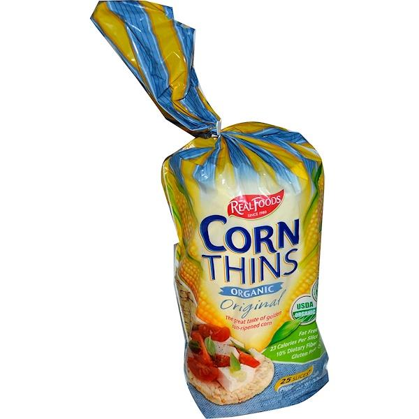 Real Foods, 原味有機玉蜀黍片,25片,5、3盎司(150克)
