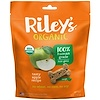 Riley's Organics, Dog Treats, Large Bone, Tasty Apple Recipe, 5 oz (142 g)