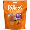 Riley's Organics, Dog Treats, Small Bone, Pumpkin & Coconut Recipe, 5 oz (142 g)
