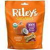 Riley's Organics, Dog Treats, Large Bone, Pumpkin & Coconut Recipe, 5 oz (142 g)