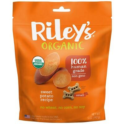 Купить Riley's Organics Лакомства для собак, маленькая косточка, рецепт со сладким картофелем, 5 унций (142 г)