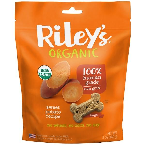Riley's Organics, Hunde-Leckerli, Großer Knochen, Süßkartoffel, 142 g