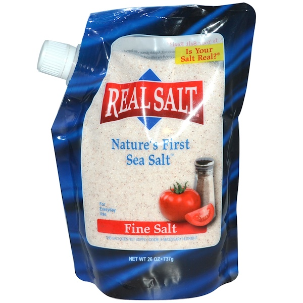 Real Salt, Ancient Fine Sea Salt, 26 oz (737 g)