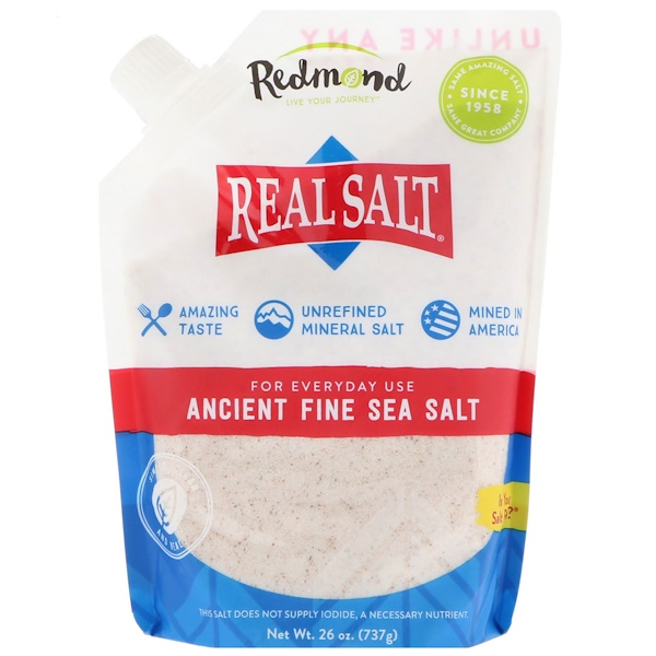 Real Salt, Ancient Fine Sea Salt, 1.6 lbs (737 g)