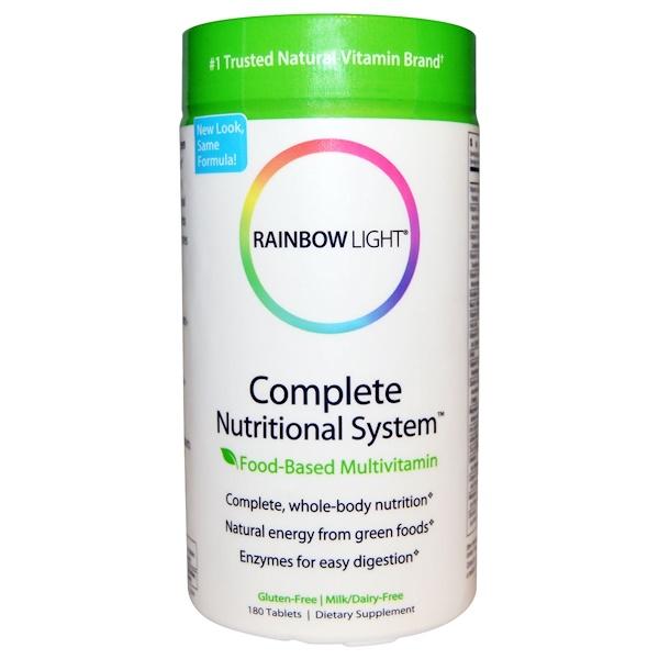 Rainbow Light, コンプリート・ニュートリショナル・システム™, 食物ベースマルチビタミン, 180 錠 (Discontinued Item)
