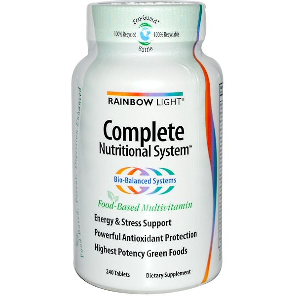 Rainbow Light, Complete Nutritional System, Food-Based Multivitamin, 240 Tablets (Discontinued Item)