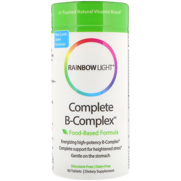 Rainbow Light, Complete B-Complex, Food Based Formula, 90 Tablets