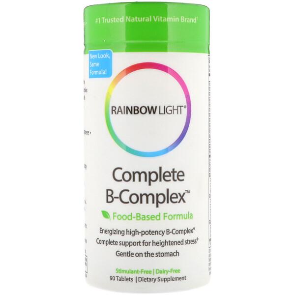 Rainbow Light, Complejo B Completo, Fórmula Basada en Alimentos, 90 Comprimidos