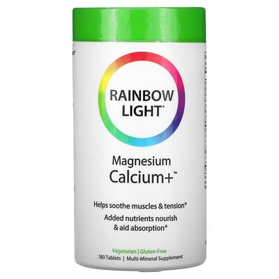 Rainbow Light магний и кальций+, 180таблеток