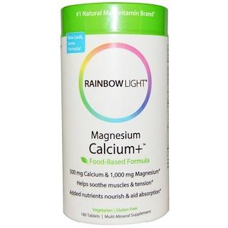 Rainbow Light, Magnesium Calcium+, Food-Based Formula, 180 Tablets