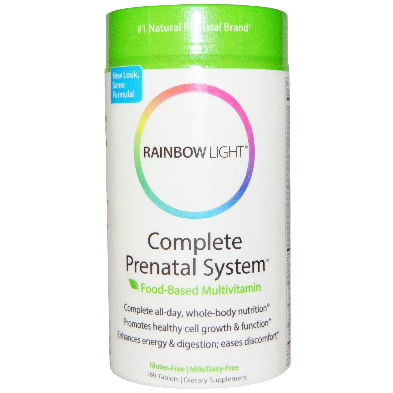 Rainbow Light, Complete Prenatal System, пищевые мультивитамины, 180 таблеток