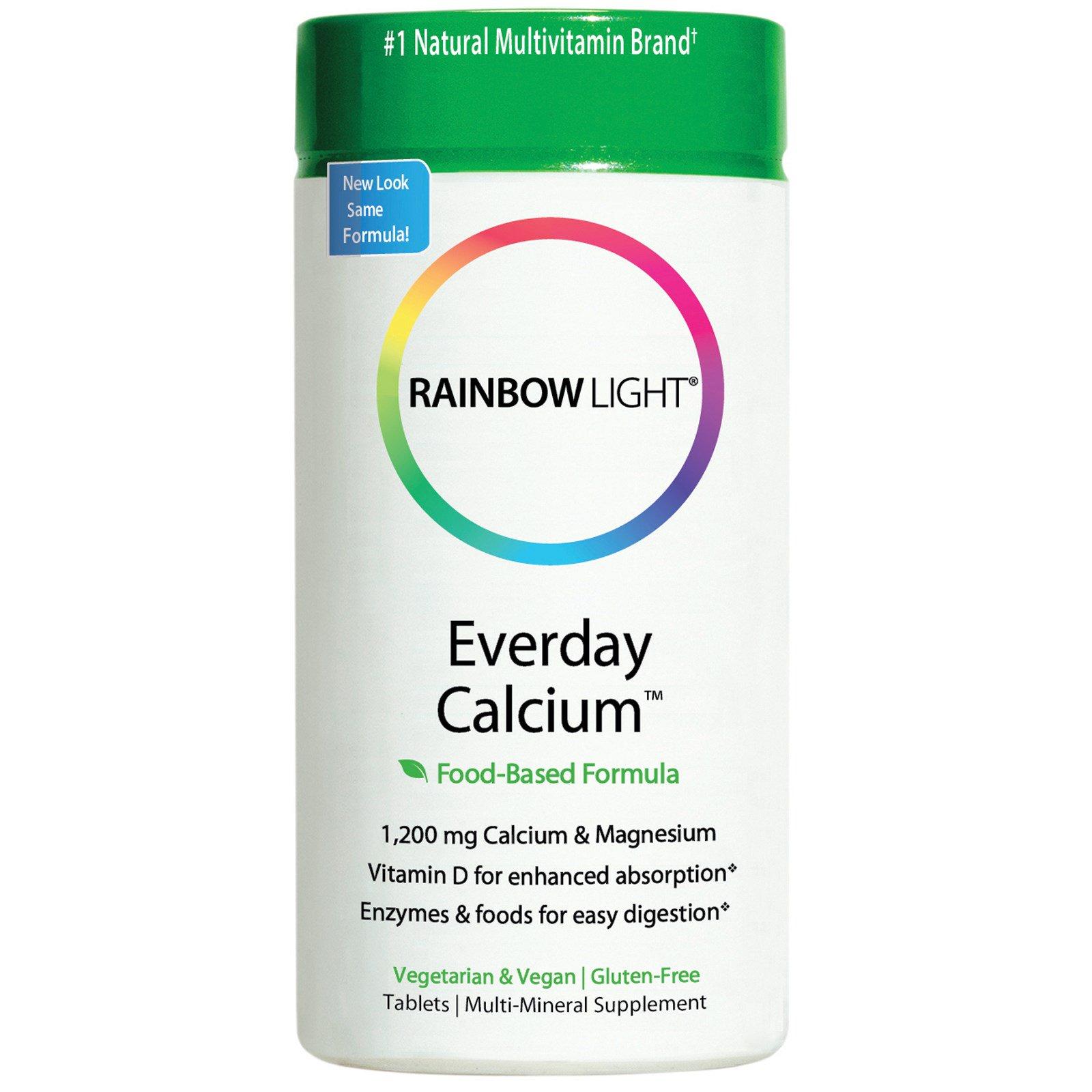 Rainbow Light, Ежедневный кальций, 120 таблеток