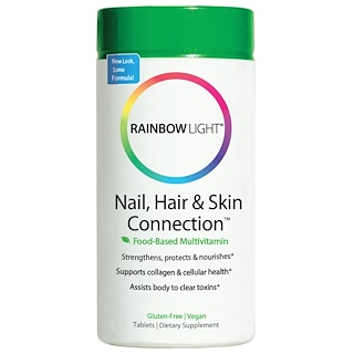 Rainbow Light, Nail, Hair & Skin Connection, Food-Based Formula, 60 Tablets