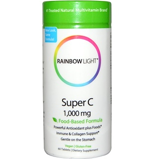 Rainbow Light, Super C, 1,000 mg, 60 Tablets