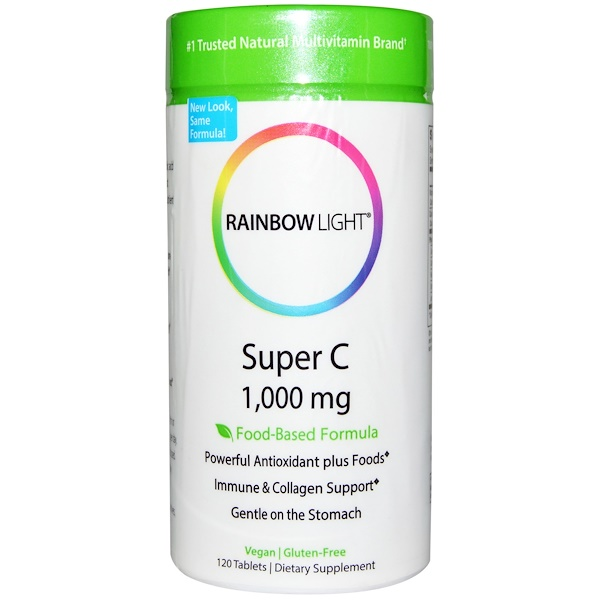 Rainbow Light, Super C, 1,000 mg, 120 Tablets (Discontinued Item)