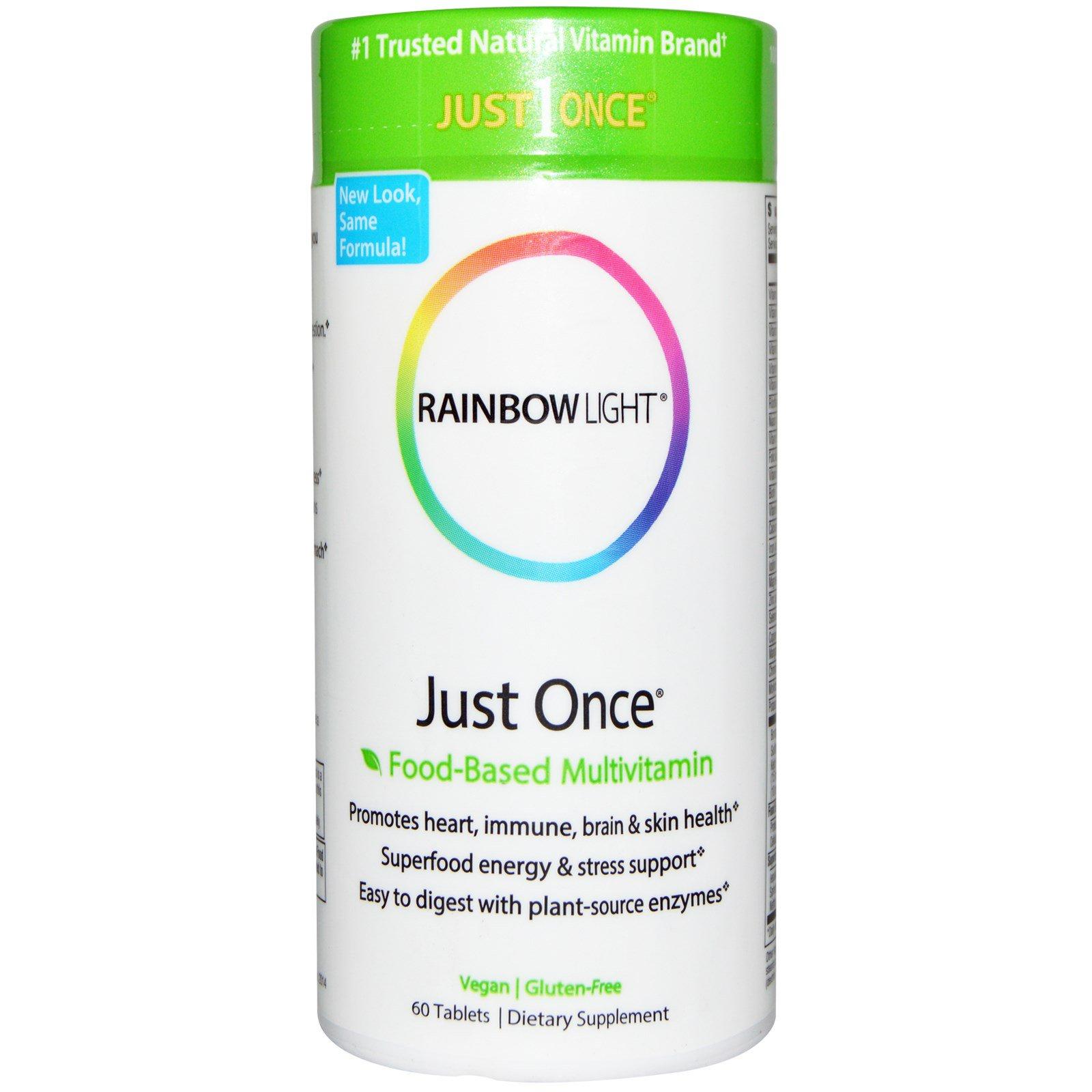 Rainbow Light, Just Once, пищевые мультивитамины, 60 таблеток