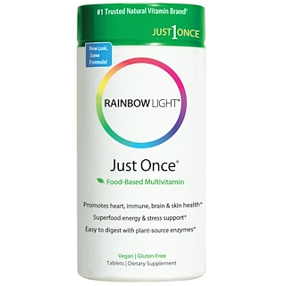 Rainbow Light, Just Once, Food-Based Multivitamin, 120 Tablets