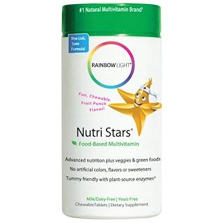 Rainbow Light, Nutri Stars, Food-Based Multivitamin, Fruit Punch Flavor, 60 Chewable Tablets