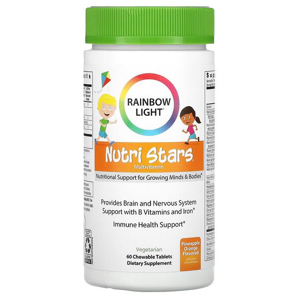 Nutri Stars, Multivitamin, Pineapple Orange, 60 Chewable Tablets