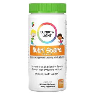 Rainbow Light, Nutri Stars, Multivitamin, Pineapple Orange Flavor, 120 Chewable Tablets