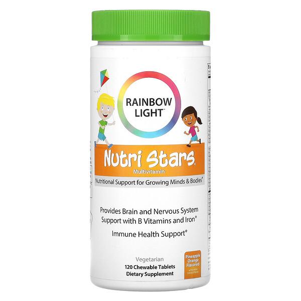 Nutri Stars, Multivitamin, Pineapple Orange Flavor, 120 Chewable Tablets