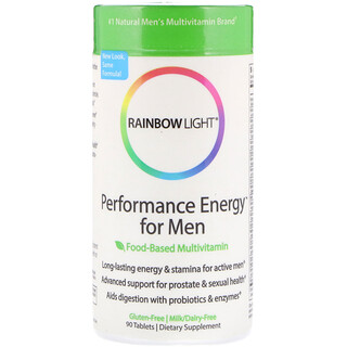 Rainbow Light, Performance Energy for Men, Food-Based Multivitamin, 90 Tablets