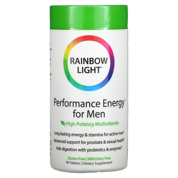 Rainbow Light, Performance Energy for Men, High Potency Multivitamin, 90 Tablets