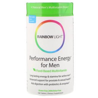 Rainbow Light, Leistungsenergie fⁿr MΣnner, Multivitamin auf Lebensmittelbasis, 180 Tabletten