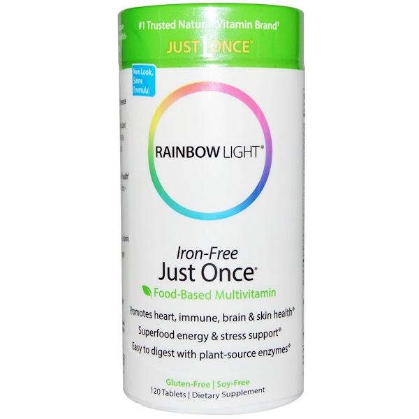 Rainbow Light, Just Once, Iron-Free, Food-Based Multivitamin, 120 Tablets