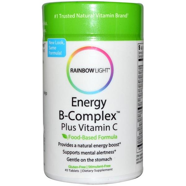 Rainbow Light, Energy B-Complex Plus Vitamin C, Food-Based Formula, 45 Tablets (Discontinued Item)