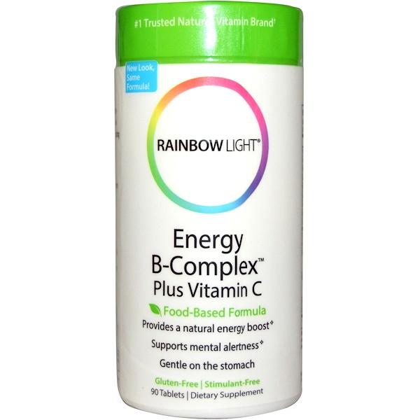 Rainbow Light, Energy B-Complex Plus Vitamin C, Food-Based Formula, 90 Tablets (Discontinued Item)