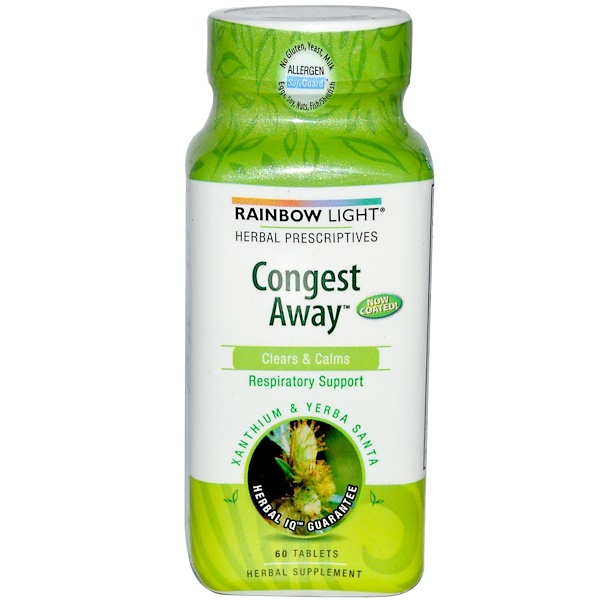 Rainbow Light, Herbal Prescriptives, Congest Away, 60 Tablets (Discontinued Item)